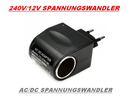 ac dc adapter spannungswandler 220v auf 12v 220 auf 12. Black Bedroom Furniture Sets. Home Design Ideas