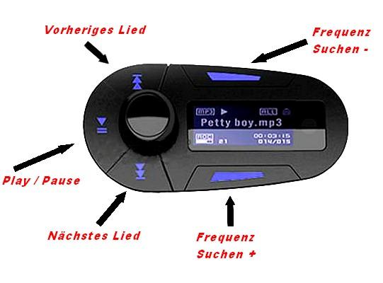 auto kfz fm transmitter mp3 musik player fernbedienung sd. Black Bedroom Furniture Sets. Home Design Ideas