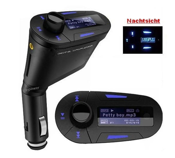 fm transmitter f r auto kfz pkw lkw mp3 player iphone ipod. Black Bedroom Furniture Sets. Home Design Ideas