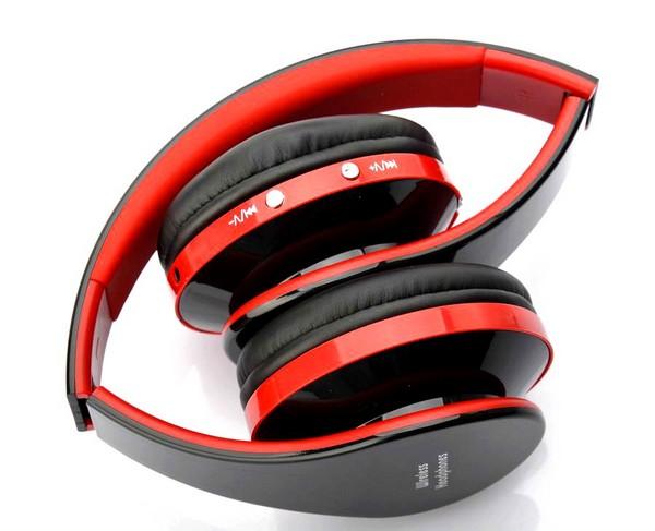 d6 rot schwarz stereo drahtlos kabellos kopfh rer headset. Black Bedroom Furniture Sets. Home Design Ideas