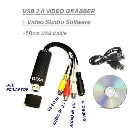 USB Audio Video Grabber Digitalisierung Videoschnitt Konverter Adapter VHS-DVD | eBay