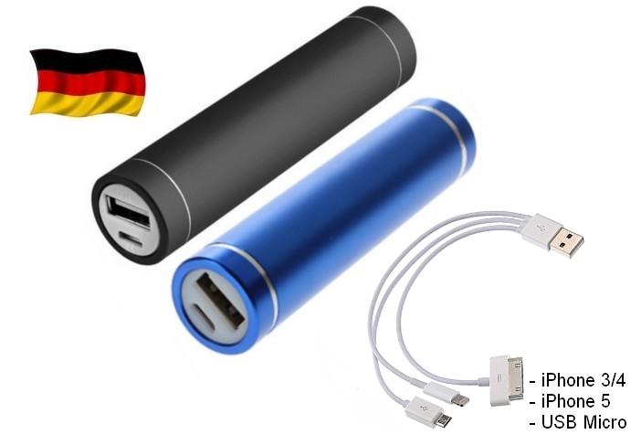 2x-2600mAh-Power-Bank-Extern-Akku-fuer-Smartphone-iPhone-Nokia-HTC-Blau-Schwarz